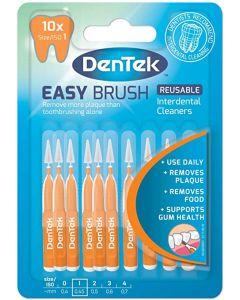 Dentek Easy Brush Interdentale Ragers met Mint Coating | ISO 1 (0,45 mm) | 10 stuks