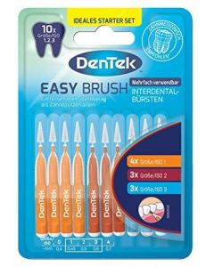 Dentek Easy Brush Ragers met sluitkap in verschillende maten, ideale startersset. Iso 1, Iso 2 en Iso 3.