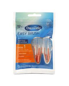 dentek easy brush iso 1 interdentale rager 12 stuks