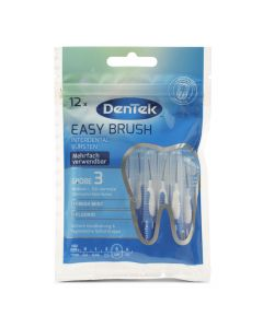 dentek easy brush interdentale rager is0 3 0,8 mm 12 stuks