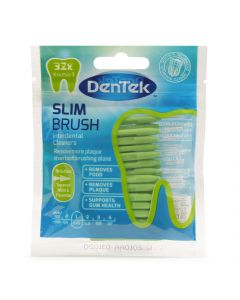 Dentek Slim Brush Fine Rager met Mint- en Fluoridecoating ISO 1 (0,45mm) | 32 stuks