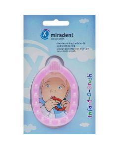 Miradent Infant-O-Brush Baby en peuter tandenborstel bijting